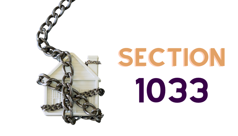 Use Section 1033 To Recover Seized Real Estate
